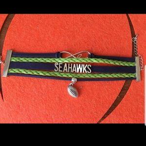 Seattle Seahawks football bracelet